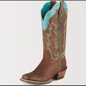 Ariat Leather Turquoise cowboy boots